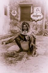 GRN_2890 (anantara) Tags: old india man yellow kids river boat town time prayer sadhu vrindavan yamuna templetilak