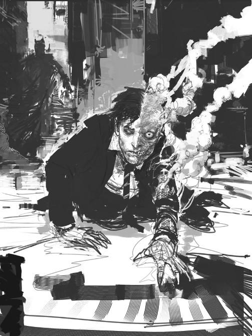大量未曾公開的「黑暗騎士」小丑概念美術設定稿曝光
