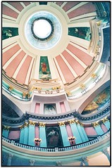 St Louis MO ~ Old Courthouse ~ Interior Dome ~ Film early 90's (Onasill ~ Bill Badzo) Tags: county old st louis us site district interior historic mo national missouri dome government courthouse register federal jeffersonnationalexpansionmemorial nrhp onasill