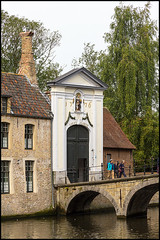 Bruges (John R Chandler) Tags: river belgium bruges convent begijnhof riverdijver