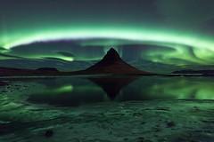 Kirkjufell Aurora (Philip Eaglesfield) Tags: mountain ice frozen iceland aurora kirkjufell northernlights auroraborealis snfellsnes grundarfjrur breiafjrur zeiss15mm