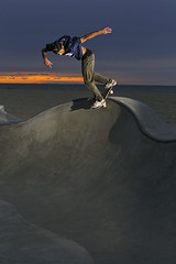Sean Johnson - Backlip (The Dman Project) Tags: california venice sunset beach skateboarding skate backlip