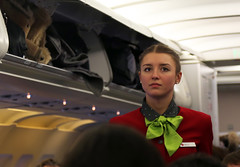 S7 flight attendant (Osdu) Tags: people girl lady cabin uniform flight airbus hostess russian stewardess flightattendant s7 oneworld stewardes russiangirl s7airlines siberiaairlines