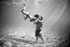 (Micah Camara) Tags: ocean sea portrait blackandwhite beach water hawaii paradise underwater kauai spl splhousings