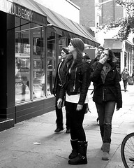 Mulberry (omoo) Tags: newyorkcity family girls bw leather sisters store boots westvillage streetscene tights tourists sidewalk jeans handbags visitors shoppers prettygirls ugg greenwichvillage mulberry uggs bleeckerstreet blacktights bwphotograph