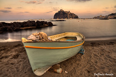 Aragonese Casle (Ischia Island) view beach old prison at sunset (Torrelunapescablu) Tags: old travel sunset sea summer sky italy building castle tourism beach clouds marina boats island boat fishing ancient campania village gulf sundown fort outdoor tourist medieval ponte land naples keep stronghold fortress ischia castello aragonese