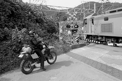(shimobros) Tags: autumn winter blackandwhite bw cold film japan nikon fuji f100 super 400 moto motorcycle neopan touring presto sekigahara