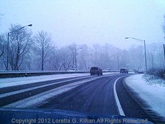 Cemetery Curve on US 22 in Easton  Pennsylvania (Peachhead (3,000,000 views!)) Tags: road winter snow ice weather dangerous highway driving hiver invierno snowing neige curve suv inverno usroute22 cemeterycurve