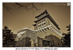 Qianmen Watchtower  (Beijing ) (SKHO ) Tags: china travel monochrome architecture buildings nikon beijing   sephia  structural watchtower  d700 nikond700 afsnikkor1735mmf28difed  qianmenwatchtower