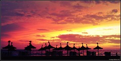 Sunset Mallorca Beach (Aaifoon) Tags: sunset sky sun apple clouds zonsondergang iphone wolkenlucht beachmallorca iphonography iphoneography amazingiphoneography uploaded:by=flickrmobile flickriosapp:filter=iguana iguanafilter