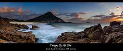 Zenith Beach Panoramic - Port Stephens Australia (Kiall Frost) Tags: ocean sky panorama sun seascape colour beach water clouds sunrise landscape photo rocks surf image framed pano australia panoramic canvas nsw prints 31 portstephens zenith kiallfrost
