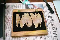 21440016-84 (jjldickinson) Tags: olympusom1 fujicolorsuperiaxtra400 roll399 promastermcautozoommacro2870mmf2842 promasterspectrum772mmuv wrigley tsukiji fish print printmaking card mokuhanga paletteknife laserengraving cherry wood woodblock carving longbeach