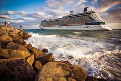 Last hours of 2012 (Dominick Nicholas Valdivia) Tags: beach boats waves sundown ftlauderdale magichour tides cruiseships jetties celebritycruises saltlife
