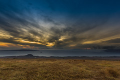 Gold and Blue (hawaiiansupaman) Tags: ocean ranch blue sunset brown nature grass clouds canon gold hawaii islands maui pasture lanai kihei molokini wailea makena kahoolawe ulupalakua westmauimountain 5dm3 hawaiiansupaman