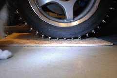 2013-01-05 FirstStudMounted_18 (Absinthe-N-me) Tags: subaru iceracing studdedtire