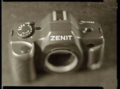 The very last of the Zenits (O9k) Tags: camera stilllife film analog studio lomography papernegative 4x5 zenit largeformat km 9x12 schneider viewcamera cameraporn selfdeveloped homedeveloping symmar sinarp directpapershot kmplus