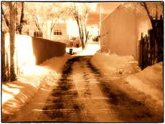 the driveway (mikerosebery) Tags: newmexico taos nm digitalinfrared olympusc2020z