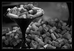Celebration (Salvatore Adelfi) Tags: bw blackwhite wine bottles champagne caps celebration vino tappi sughero
