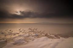 Baby, It's Cold_DSC3910 (antelope reflection) Tags: snow cold ice water clouds sunrise antelopeisland greatsaltlake utahstatepark nikond90 tamron1024