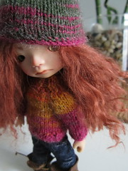 Gregor is modelling knitted set - made to order (Soneekk) Tags: hat sweater outfit handmade knitted ino enyo