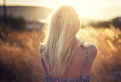 The happiest days (Fabio Sabatini) Tags: blur canon hair 50mm dof wind bokeh f14 greece shoulders alessandra goldenhour samos mycale   dryoussa etesian mesokampos