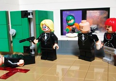 The Presidential Washroom (Julius No) Tags: clock mirror king force lego president x master coco captain lex boomerang washroom plastique task luthor