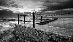wrong tide (tara.bowen) Tags: blackandwhite seascape beach sunrise sydney nsw tidalpool monavale
