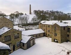 Helmshore Textile Museum (Johnners61) Tags: chimney snow heritage history mill industry museum lumix lancashire panasonic rossendale helmshore haslingden lx5