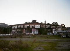 (john daniel reiss) Tags: sf ca city sunset art film 35mm grafitti tag south olympus abandonded stylus epic 2012 landcape roundhouse