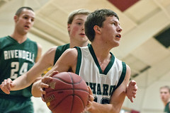 Sharon vs. Rivendell basketball (libbymarch) Tags: usa news sports basketball sharon vt rivendell boysbasketball valleynewsvalley