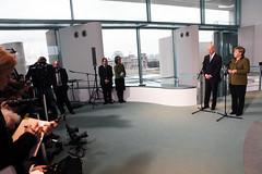 Vice President Joe Biden and German Chancellor Angela Merkel speaking to the media (usbotschaftberlin) Tags: berlin us merkel botschaft biden kanzeleramt