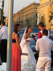 SPB Wedding Day on the Embankment (robert_m_brown_jr) Tags: flowers wedding woman man girl lady stpetersburg groom bride dress russia weddingdress weddingday sanktpeterburg