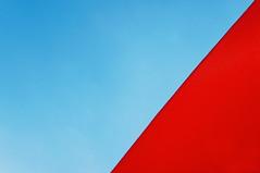 Red Hot (lewist584) Tags: sonynex5r sony sigma19mmf28dn emount 19mm f28 art dn lewist584 luxembourg lieler gimp gmic polaroid690 sail sheet shelter sun bluesky summer red
