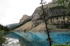 Am I Blue? (Patricia Henschen) Tags: canada nationalpark banff alberta morainelake glacial lake reflections rockies northern rockymountains mountains reflection glacier