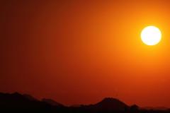 Sunset 6 28 16 #02 (Az Skies Photography) Tags: sun set sunset dusk twilight nightfall cloud clouds sky skyline skyscape scottsdale arizona az scottsdaleaz june 28 2016 june282016 62816 6282016 orange yellow gold golden salmon black