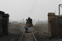 I_B_IMG_8193 (florian_grupp) Tags: asia china steam train railway railroad bayin lanzhou gansu desert landscape loess mountains sy ore mine 282 mikado steamlocomotive locomotive