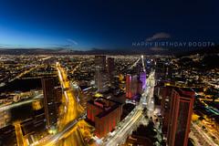 Happy Birthday Bogota II (jhonbphoto) Tags: bogot colombia co lights townatnight landscape canon aire libre cielo 6d ngc