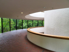 Brandywine River Museum, Chadds Ford, Pennsylvania (duaneschermerhorn) Tags: museum gallery modern contemporary art architecture windows trees green light white red tile wyeth andrewwyeth painting