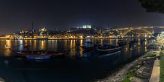 Porto noite (ribadeluis) Tags: portugal pano panoramica panoramic noche noite portuscale oporto vilanovadegaia porto canoneos6d largaexpo longexposure manfrotto canonef2470mmf28lusm canon luces ciudad city night
