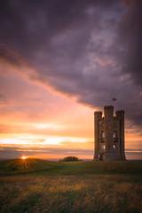 Broadway Tower (mitalpatelphoto) Tags: british adventure broadwaytower castle clouds coventry england europe indurotripod nikon sunflare sunset travel unitedkingdom visit