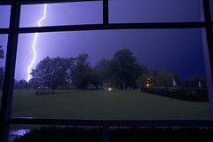 Strike 3 (It's my whole damn raison d'etre) Tags: lightning storm porch rain purple blue electrical clouds trees eastern shore maryland md talbot county saint michaels green alex erkiletian nikon d800e