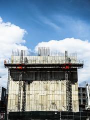 We'll Build A Wall! (srslyguys) Tags: jc jerseycity wall nj newjersey construction scaffold platform