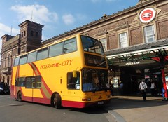 Helms of Eastham 128 - LK03 GHH (North West Transport Photos) Tags: helmsofeastham acl aintreecoachline dennis trident dennistrident plaxton president plaxtonpresident lk03ghh 128 chester chesterrailwaystation cityraillink interthecity tp tp448 metroline bus