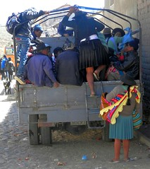 Going home (magellano) Tags: tarabuco bolivia gente people candid persone camion sunday market mercato mercado donna woman uomo man strada street