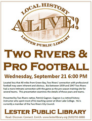 Two Rivers & Pro Football (Lester Public Library) Tags: lesterpubliclibrary 365libs lpl librariesandlibrarians library libslibs libraries lesterpubliclibrarytworiverswisconsin publiclibrary publiclibraries history localhistory tworiverswisconsin tworivershistory football professionalfootball footballhistory