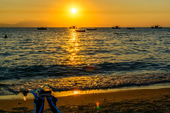 End of a great day (Yannis_K) Tags: sunset halkidiki sea boats silhouette color colors colour colours snorkeling snorkel mask fins water greece siviri    yannisk nikond7100 nikon35mmf18dx