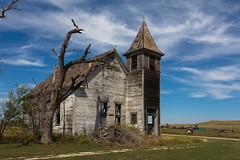 Derelict church in Cottonwood, South Dakota. Population 9 (vambo25) Tags: ghosttown cottonwood southdakota highway14 church hwy14