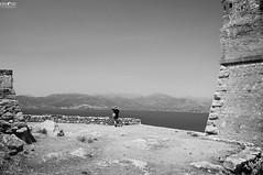 Nafplion Fortress (kana movana) Tags: nafplion nafplio palamidi fortress castle old ruins view viewpoint girl greece greek peloponnese europe european sea history historic d90