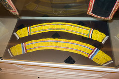 Two Sarawak bead necklaces (quinet) Tags: 2015 aborigne borneo iban kuching kuchingtextilemuseum malaysia muziumnegerisarawak perlen sarawak sarawakstatemuseum ureinwohner aboriginal beads native perles