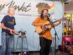 Brian Cutean with Richard Crandell (marketkim) Tags: musicians eugene oregon saturdaymarket festival artfair eugenesaturdaymarket artfestival